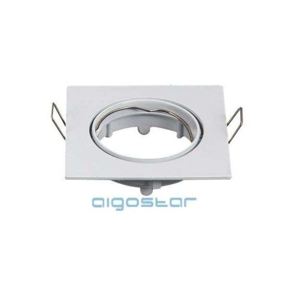 LED spot lámpa beépítő keret szögletes TS07 Fehér GU10 és MR16-os LED izzókhoz