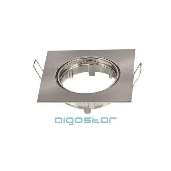 LED spot lámpa beépítő keret szögletes TS07 INOX GU10 és MR16-os LED izzókhoz