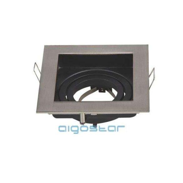 Aigostar LED spot lámpa beépítő keret szögletes TS71S INOX GU10 és MR16-os LED izzókhoz