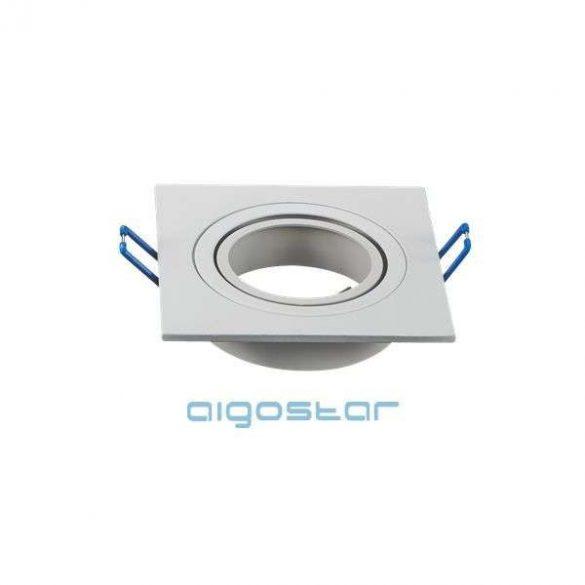 LED spot lámpa beépítő keret szügletes M1030S-01 fehér GU10 és MR16-os LED izzókhoz