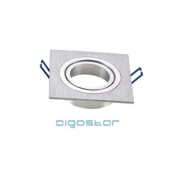 Aigostar LED spot lámpa beépítő keret szögletes M1030S-01 ezüst GU10 és MR16-os LED izzókhoz