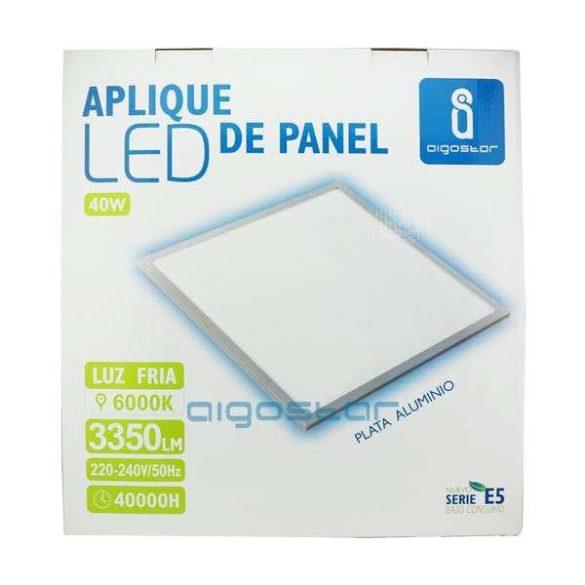 LED panel 600x600 40W természetes fehér fehér keret dugvillával