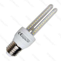 Kukorica LED izzó, 9W, E27 foglalattal, hideg fehér