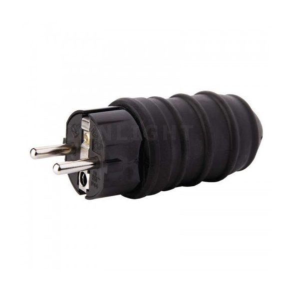 Szerelhető gumi dugvilla, 230V, IP44, 16A