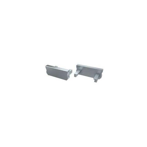 Alumínium Végzáró Standard (A) Led profilokhoz Szürke Teli Normál