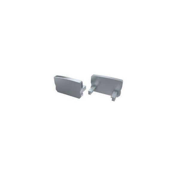 Alumínium Végzáró Standard (A) led profilokhoz Szürke Teli Magas