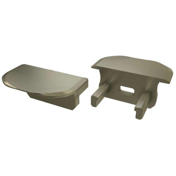 Alumínium Végzáró Beépíthető (B) led profilokhoz Bronz
