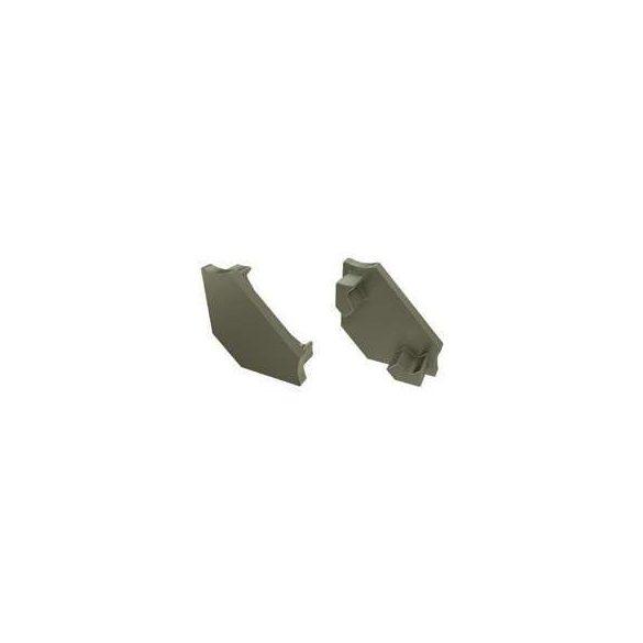 Alumínium Végzáró Sarokba rögzíthető(C) led profilokhoz Bronz Teli