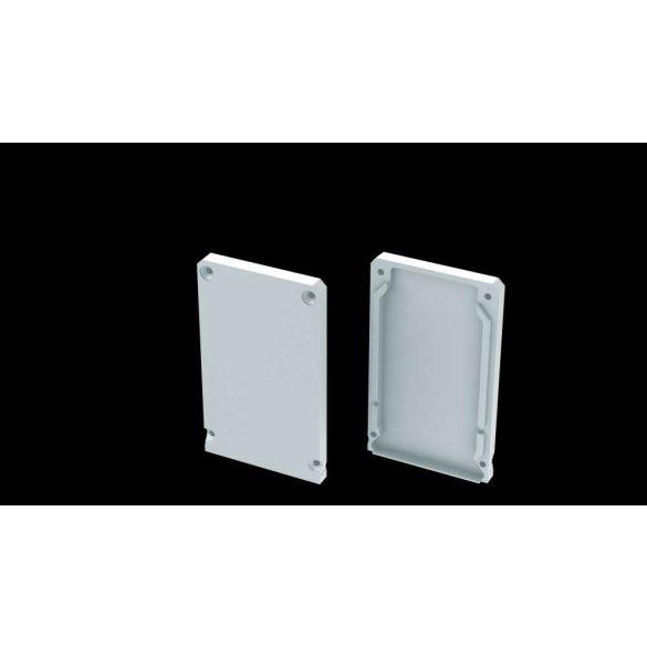 Alumínium Végzáró CLARO led profilokhoz Fehér Teli