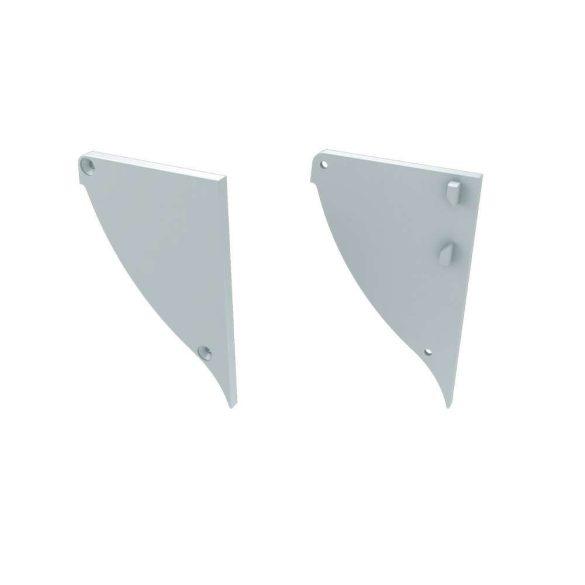 Alumínium Végzáró CONVA típusú led profilokhoz Fehér Jobbos