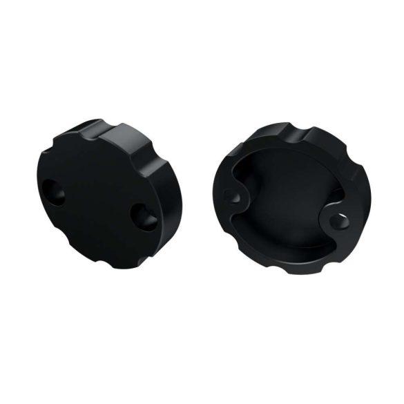 Alumínium Szabályozható Végzáró Alumínium LUMINES COSMO profilokhoz Fekete