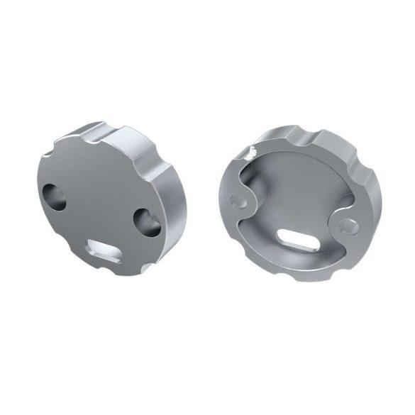 Alumínium Szabályozható Végzáró Alumínium LUMINES COSMO profilokhoz Ezüst Lyukas