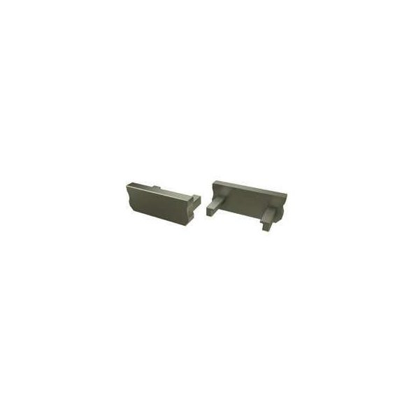 Alumínium Végzáró Standard(D) led profilokhoz Bronz Teli