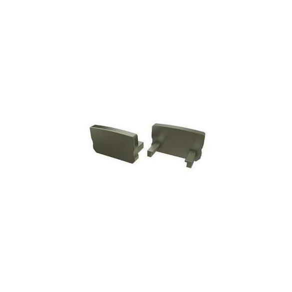 Alumínium Végzáró Standard(D) led profilokhoz Bronz Teli Magas