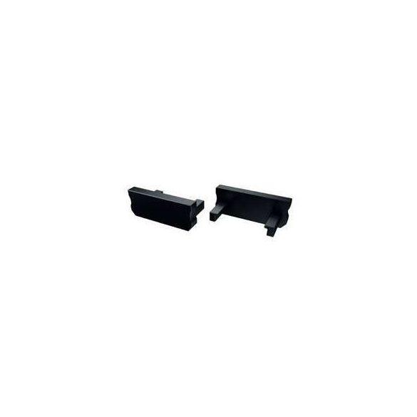 Alumínium Végzáró Standard(D) led profilokhoz Fekete Teli