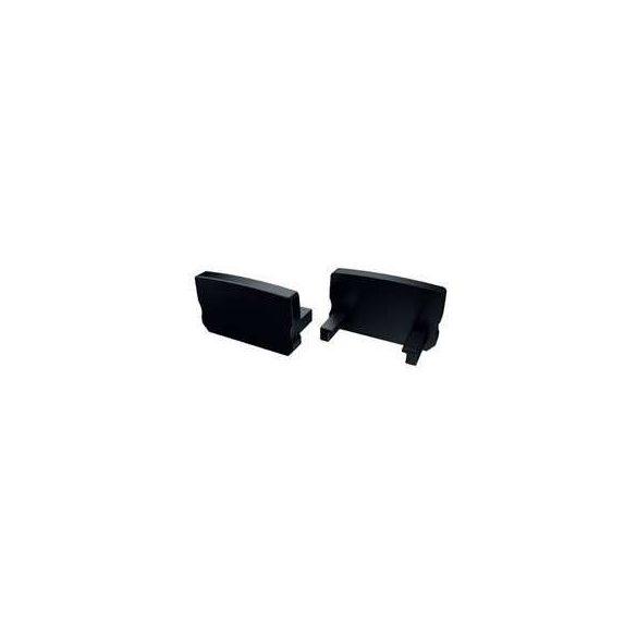 Alumínium Végzáró Standard(D) led profilokhoz Fekete Teli Magas