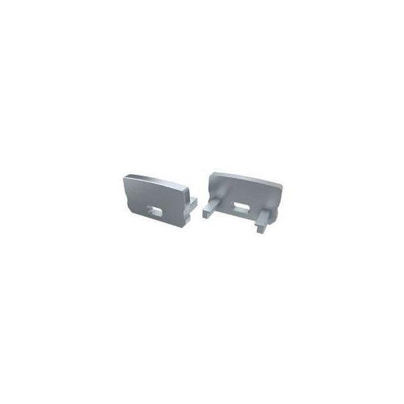 Alumínium Végzáró Standard(D) led profilokhoz Szürke Lyukas Magas