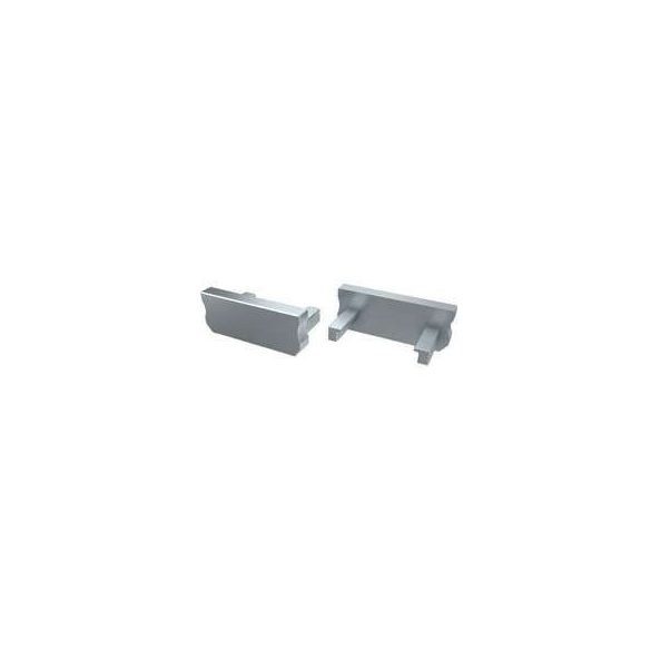 Alumínium Végzáró Standard(D) led profilokhoz Szürke Teli