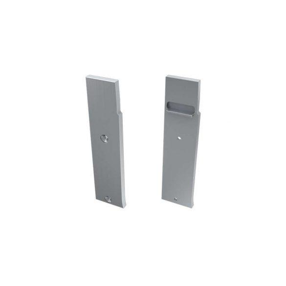 Alumínium Végzáró FLARO típusú led profilokhoz Ezüst Jobbos