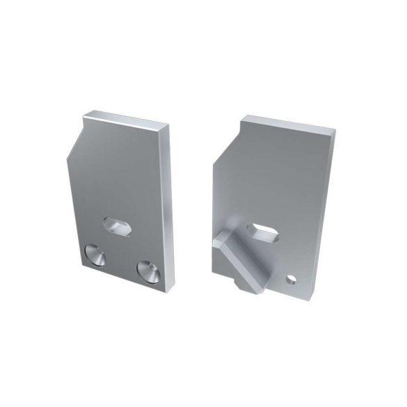 Alumínium Végzáró I10 alumínium profilokhoz Ezüst Jobbos Lyukas Támaszték nélküli