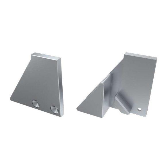 Alumínium Végzáró I10 alumínium profilokhoz Ezüst Jobbos Teli Támasztékos
