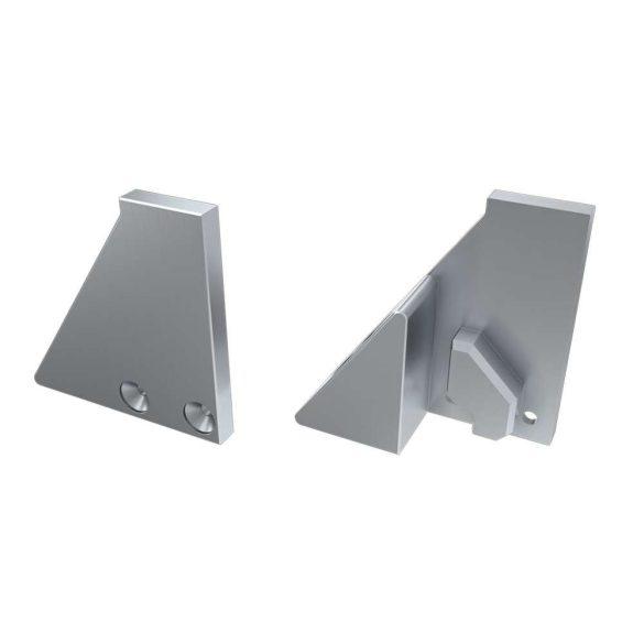 Alumínium Végzáró I6 alumínium profilokhoz Ezüst Jobbos Teli Támasztékos
