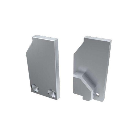 Alumínium Végzáró I6 alumínium profilokhoz Ezüst Jobbos Teli Támaszték nélküli