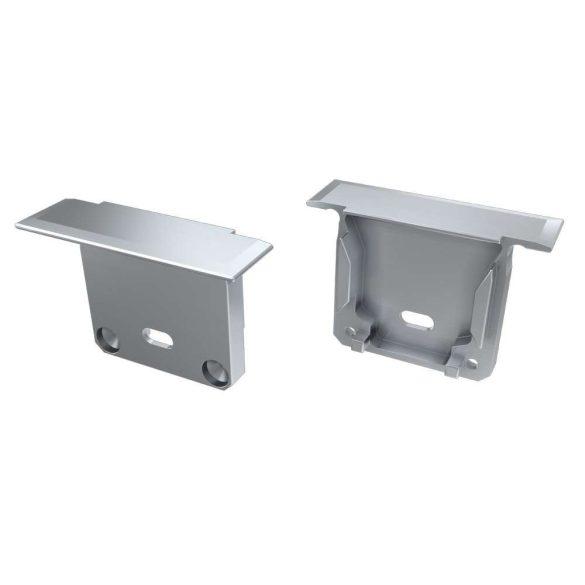 Alumínium Végzáró INDILEDA típusú led profilokhoz Ezüst Lyukas