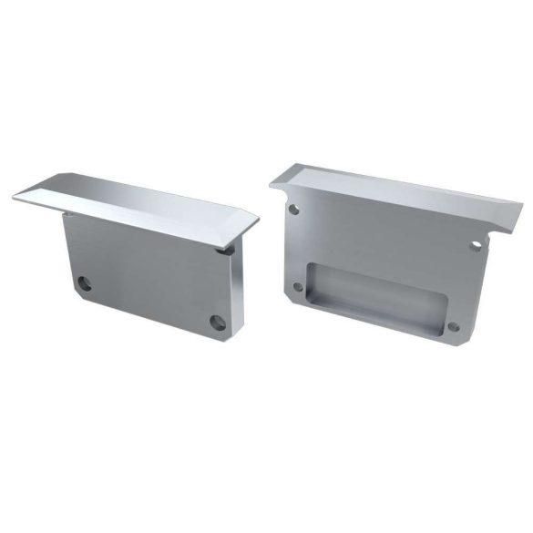 Alumínium Végzáró széles (INSO) Led profilokhoz Szürke Teli