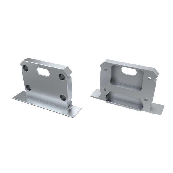 Alumínium Végzáró inTALIA típusú led profilokhoz Ezüst Lyukas