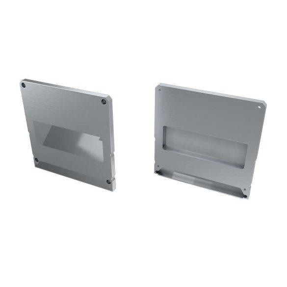 Alumínium Végzáró M2+LARGO típusú led profilokhoz Ezüst