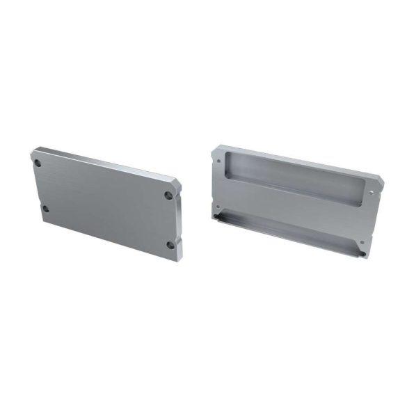 Alumínium Végzáró LARGO típusú led profilokhoz Ezüst