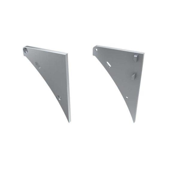 Alumínium Végzáró LOGI típusú led profilokhoz Ezüst Jobbos Lyukas