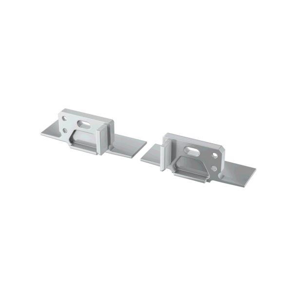 Alumínium Végzáró MONO típusú led profilokhoz Ezüst Lyukas Balos