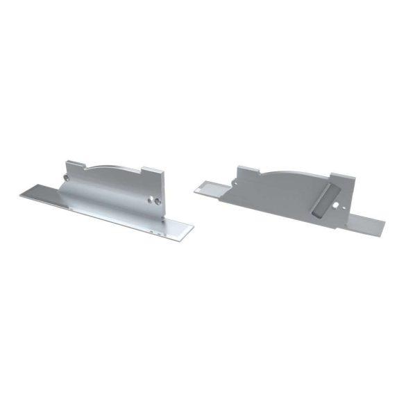Alumínium Végzáró PERO típusú led profilokhoz Ezüst Jobbos Lyukas