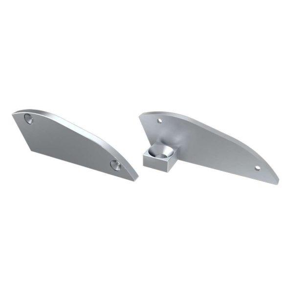 Alumínium Végzáró RETO típusú led profilokhoz Ezüst Bal 15°