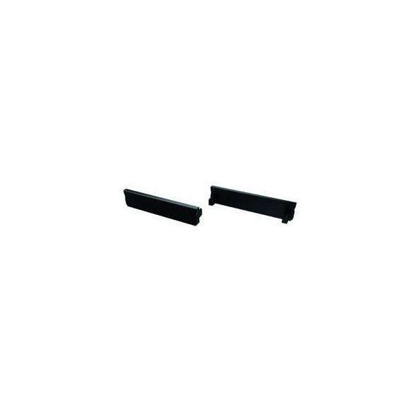 Alumínium Végzáró Széles(SOLIS) led profilokhoz Fekete Teli