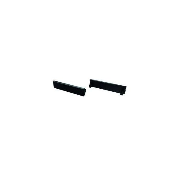 Végzáró Széles(SOLIS) led profilokhoz Fekete Teli