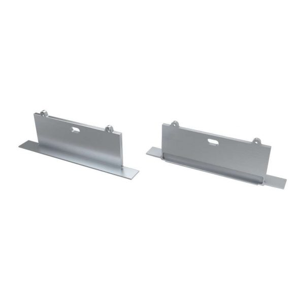 Alumínium Végzáró SORGA típusú led profilokhoz Ezüst Lyukas