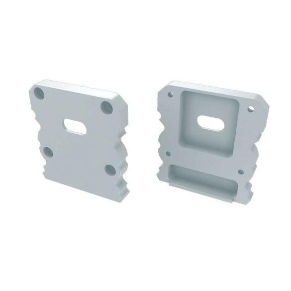 Alumínium Végzáró M1+TALIA típusú led profilokhoz Fehér Lyukas