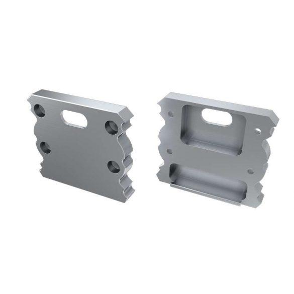 Alumínium Végzáró TALIA típusú led profilokhoz Ezüst Lyukas