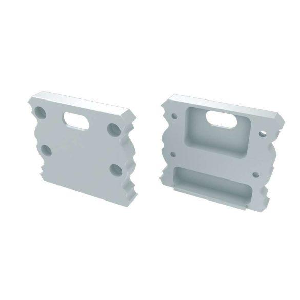 Alumínium Végzáró TALIA típusú led profilokhoz Fehér Lyukas