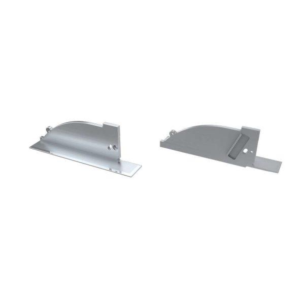 Alumínium Végzáró TOPO típusú led profilokhoz Ezüst Jobbos Lyukas