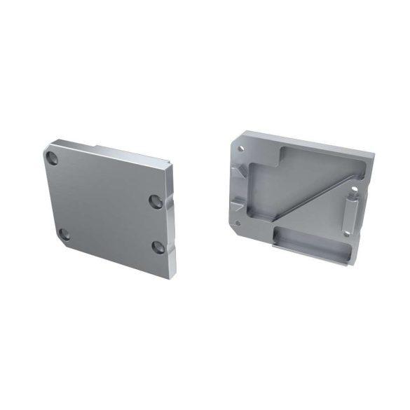 Alumínium Végzáró UNICO típusú led profilokhoz Ezüst Jobbos