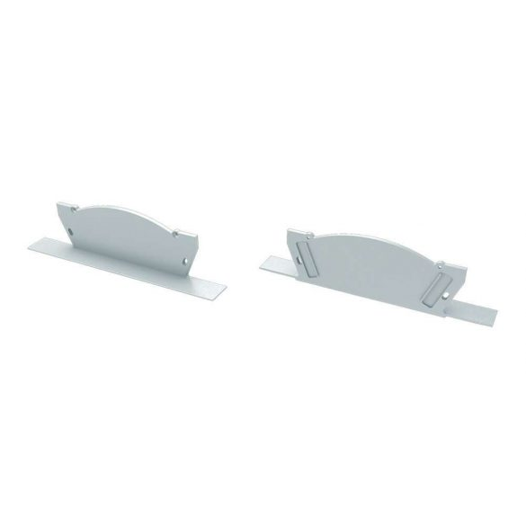 Alumínium Végzáró VEDA típusú led profilokhoz Fehér Balos Lyukas