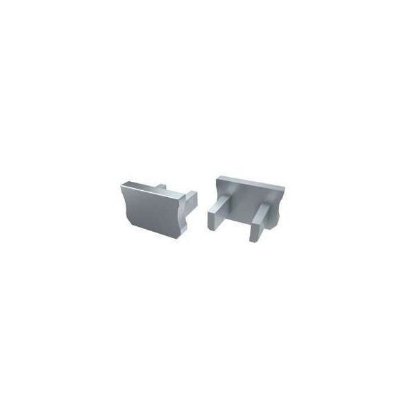 Alumínium Végzáró Keskeny(X) led profilokhoz Szürke Teli