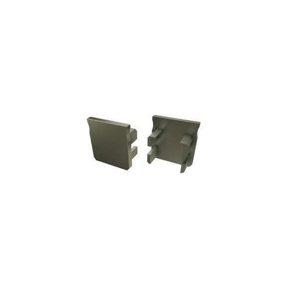 Alumínium Végzáró Magas Falú(Y) Led Profilokhoz Bronz Teli