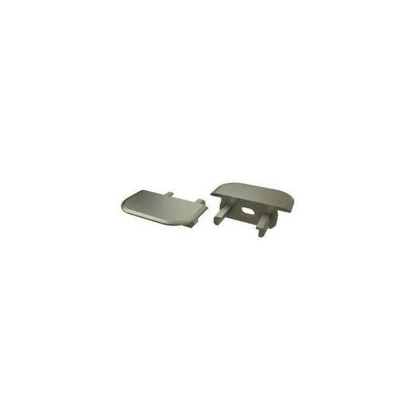 Alumínium Végzáró Beépíthető(Z) Led Profilokhoz Bronz Lyukas