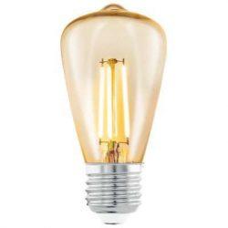 Led design izzó, 3,5W, E27, meleg fehér szín.