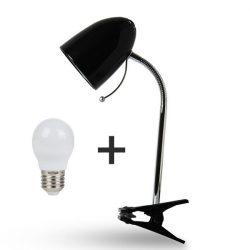 Aigostar Asztali lámpa fekete csiptetős 6W-os Természetes fehér fényű izzóval